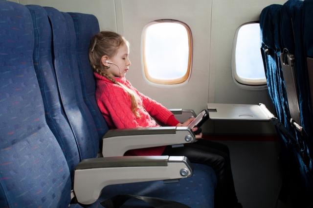 飛行機内の画像